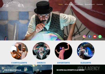 Sito Web per Artista: Billy Bolla
