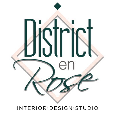 Logo District en Rose, sito web per studio di interior design