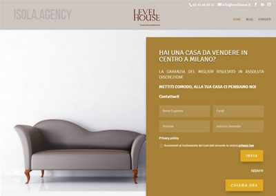 Sito Web per Agenzia Immobiliare: Level House