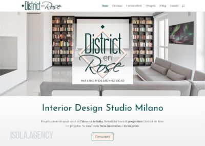 Sito Web Studio Interior Design: District en Rose