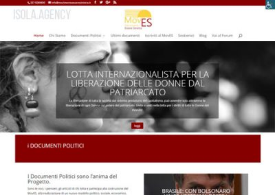 Sito Web per Movimento Politico: MovES