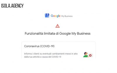 Google My Business durante il Coronavirus